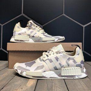 Adidas NMD R1 Fractal Camo Sand Beige Grey Size 9